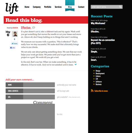 Lift Web site